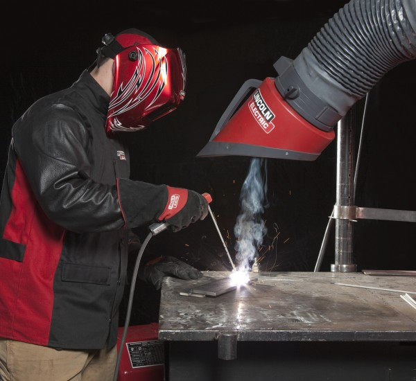 Stick Welding Application with Weld Fume Control