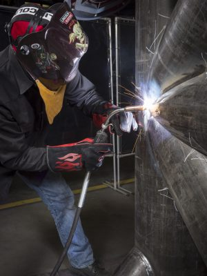MIG Welding on pipe sections
